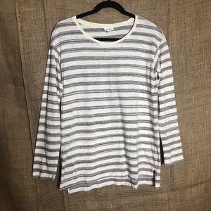 Pure Jill SZ XS Long Sleeve Striped Top Cozy Shirt